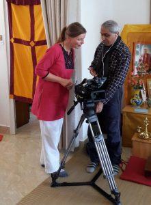 With filmmaker Benoy Kehl